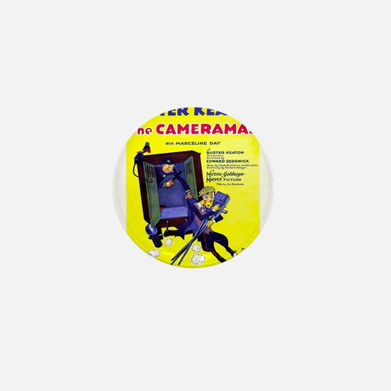 Vintage poster - The Cameraman Mini Button