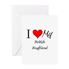 I Love My British Boyfriend Greeting Card