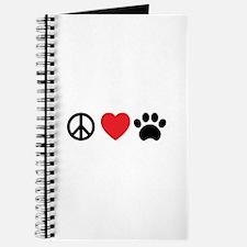 Peace Love Paw Journal