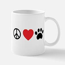 Peace Love Paw Mugs