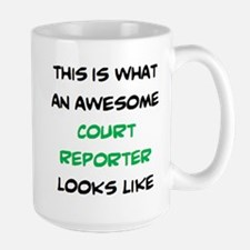 awesome court reporter Mugs