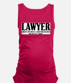 Funny Lawyer Tank Top