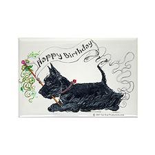 Scottish Terrier Birthday Dog Rectangle Magnet