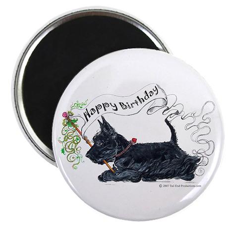 Scottish Terrier Birthday Dog Magnet