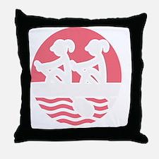 Cool Sculler Throw Pillow