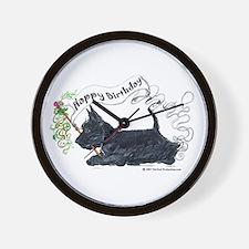 Scottish Terrier Birthday Dog Wall Clock