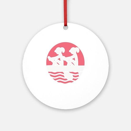 Rowing Girlz Round Ornament