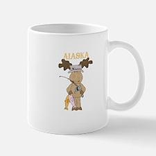 Alaska Moose Going Fishing Mugs
