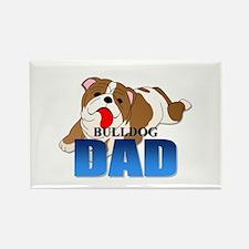 Bulldog Dad Rectangle Magnet (100 pack)