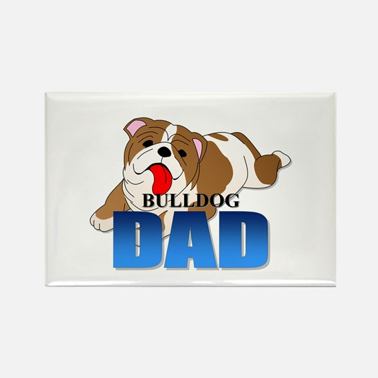 Bulldog Dad Rectangle Magnet (10 pack)