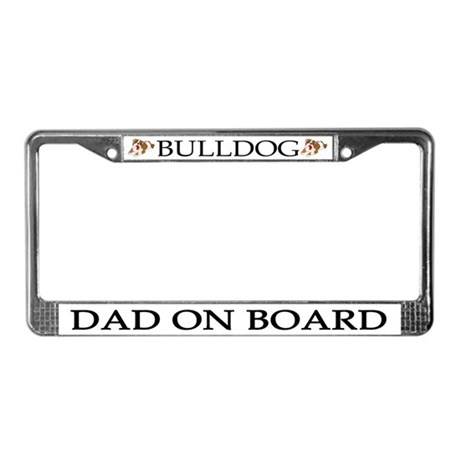 Bulldog Dad License Plate Frame
