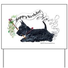 Scottish Terrier Birthday Dog Yard Sign