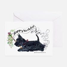 Scottish Terrier Birthday Dog Greeting Cards (Pk o
