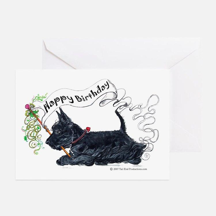 Scottish Terrier Birthday Dog Greeting Cards (Pk o