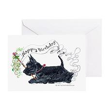 Scottish Terrier Birthday Dog Greeting Card