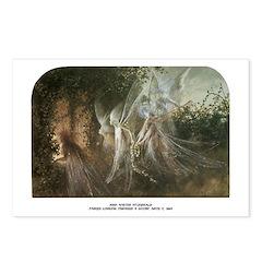 Fairies looking through a Gothic Arch Postcards (P