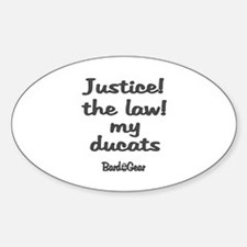 Ducats Oval Decal