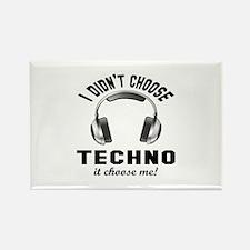 I didn't choose Techno Rectangle Magnet