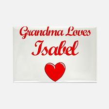 Grandma Loves Isabel Rectangle Magnet