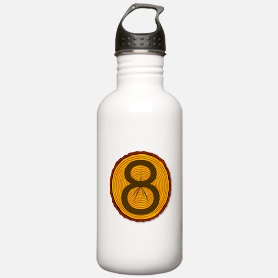 Number Eight Log Water Bottle