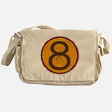 Number Eight Log Messenger Bag