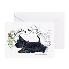 Scottie Girl Birthday Greeting Card