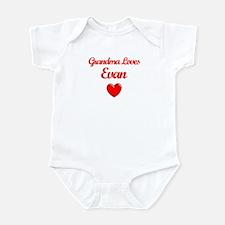 Grandma Loves Evan Infant Bodysuit