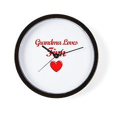 Grandma Loves Finn Wall Clock
