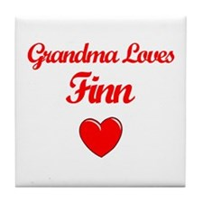 Grandma Loves Finn Tile Coaster