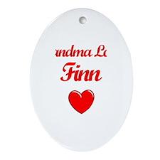 Grandma Loves Finn Oval Ornament
