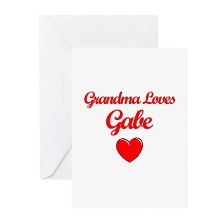 Grandma Loves Gabe Greeting Cards (Pk of 10)
