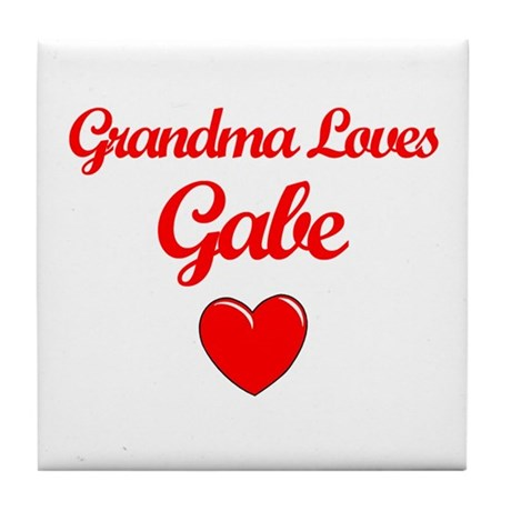 Grandma Loves Gabe Tile Coaster