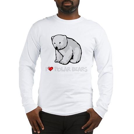 I Love Polar Bears Long Sleeve T-Shirt