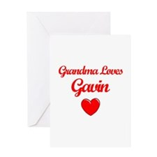 Grandma Loves Gavin Greeting Card