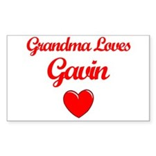 Grandma Loves Gavin Rectangle Decal