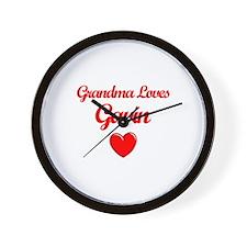 Grandma Loves Gavin Wall Clock