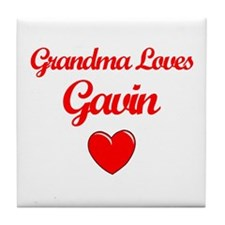 Grandma Loves Gavin Tile Coaster