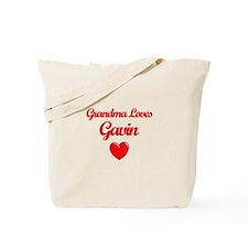 Grandma Loves Gavin Tote Bag