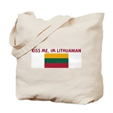 KISS ME IM LITHUANIAN Tote Bag