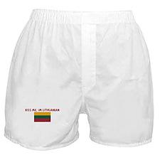 KISS ME IM LITHUANIAN Boxer Shorts
