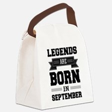 Legends Are Born In September Canvas Lunch Bag
