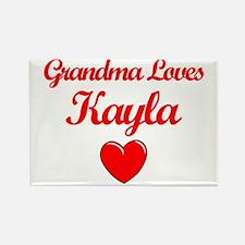 Grandma Loves Kayla Rectangle Magnet