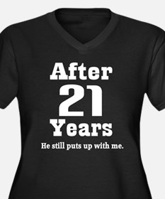 21st Anniversary Funny Quote Plus Size T-Shirt