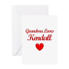 Grandma Loves Kendall Greeting Card