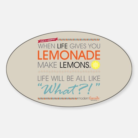 Modern Family Phil's-osophy Lemonad Sticker (Oval)