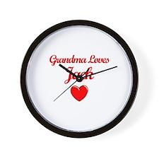 Grandma Loves Jack Wall Clock