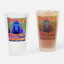 Blue Monkey Drinking Glass