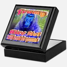 Blue Monkey Keepsake Box
