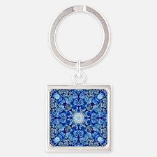 Unique Chakra meditation Square Keychain