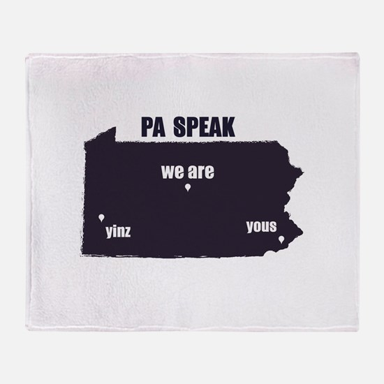 PA Speak Throw Blanket